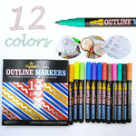 Colorful DIY Contour Markers Pen