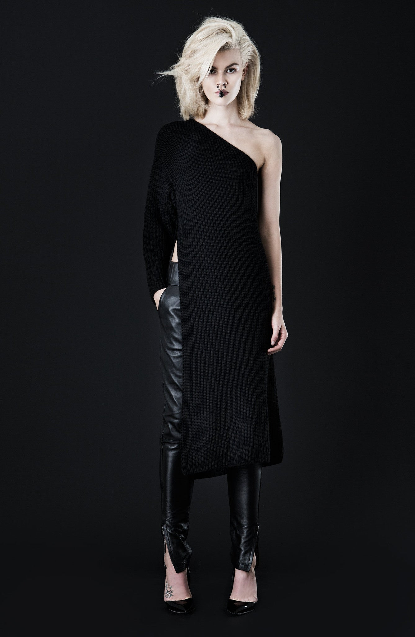 Asilio - Tough Love Knit Tunic Black