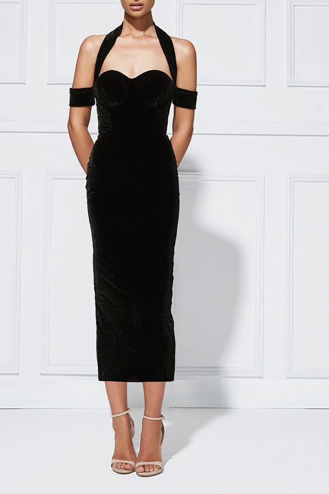 Misha Collection Angelina Velvet Dress