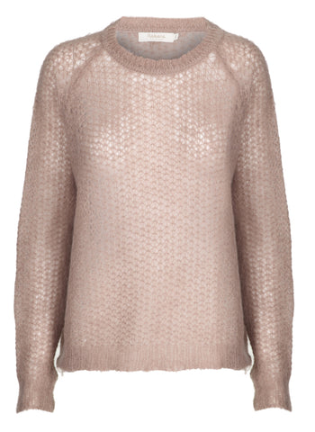 Rabens Saloner Coriander Sweater Sheer Pink