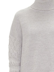 Sabatini Textured Cable Roll Neck Jumper close up