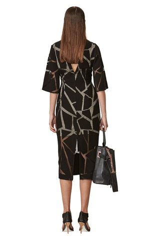 Ginger & Smart - Fracture Dress With Sleeve