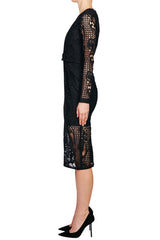 Nicholas Fleur Lace Deep V Dress