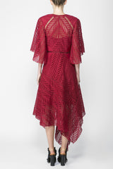 Acler Langford Dress Crimson back