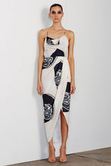Shona Joy - Manuela Cow Lace Up Maxi