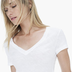 James Perse Casual Tee W/Reverse Binding White