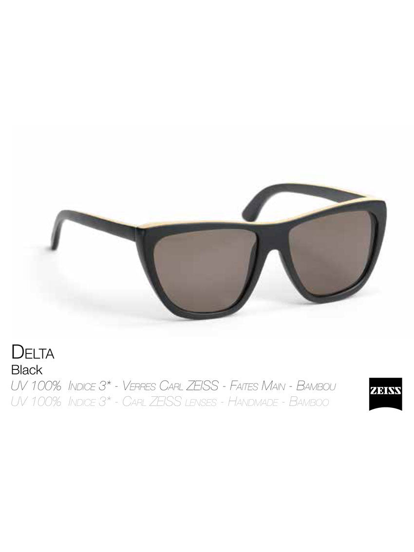 Waiting For The Sun black Delta sunglasses