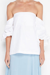 MLM - Pillar Shoulder Top White