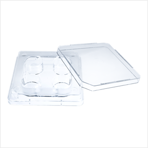 Oosafe® 4 Well Dish Non-Treated Surface (4 Pcs/Pack, 120 Pcs/Case)