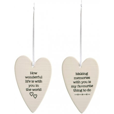 Porcelain Heart Decoration - 2 Designs