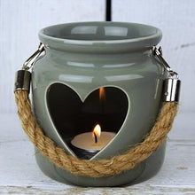 Load image into Gallery viewer, Grey Heart Lantern - 2 Sizes