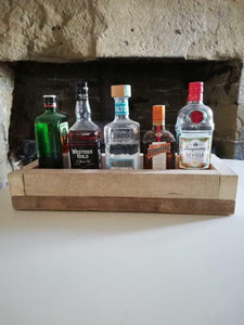 Natural Rustic Wooden Tray with Chunky Rope Handles