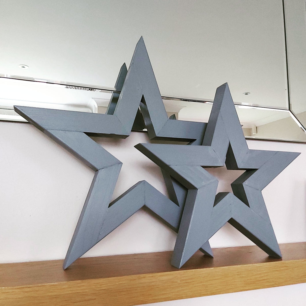 Grey Wooden Star