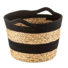 Load image into Gallery viewer, Sass & Belle Black Rope & Grass Stripe Basket