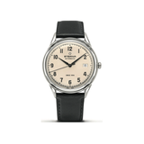 Luxury Auto Eterna Heritage 1948 37mm Cream Dial Black Leather Automatic Watch 2955.41.94.1388