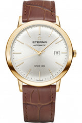 Luxury Eterna Men's Eternity 40mm Brown Leather Band Automatic 270056111391