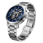 Rotary Gents Stainless Steel Greenwich Skeleton GB05350/05