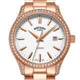 Rotary Oxford Rose Gold Stainless Steel Watch LB05096/02