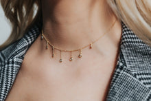 Load image into Gallery viewer, Dainty Drops of Shine Choker in Gold