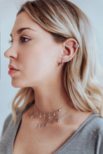 Load image into Gallery viewer, Dainty Drops of Shine Choker in Silver