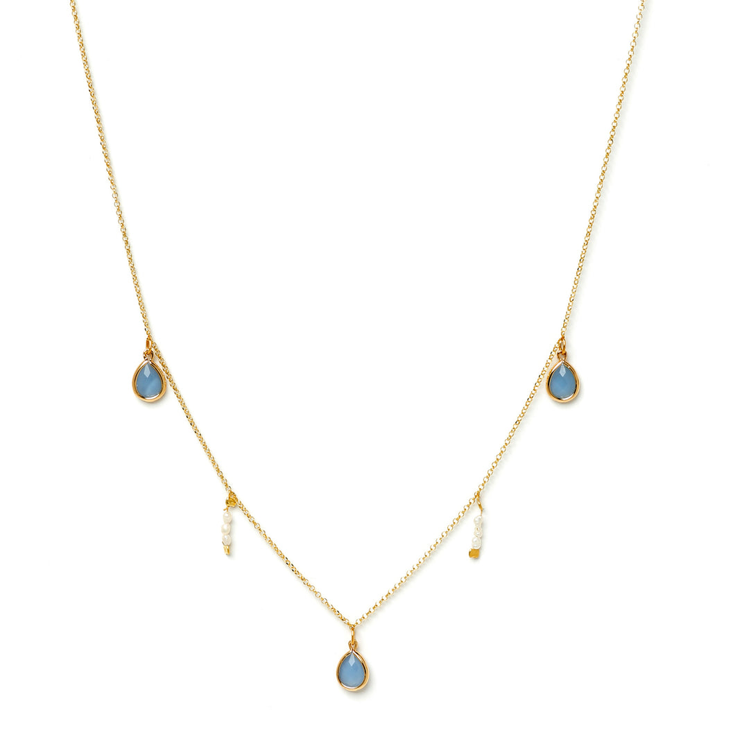 Blue Rice Necklace