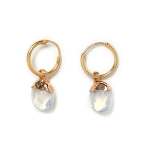 Crystal Opal mini hoops