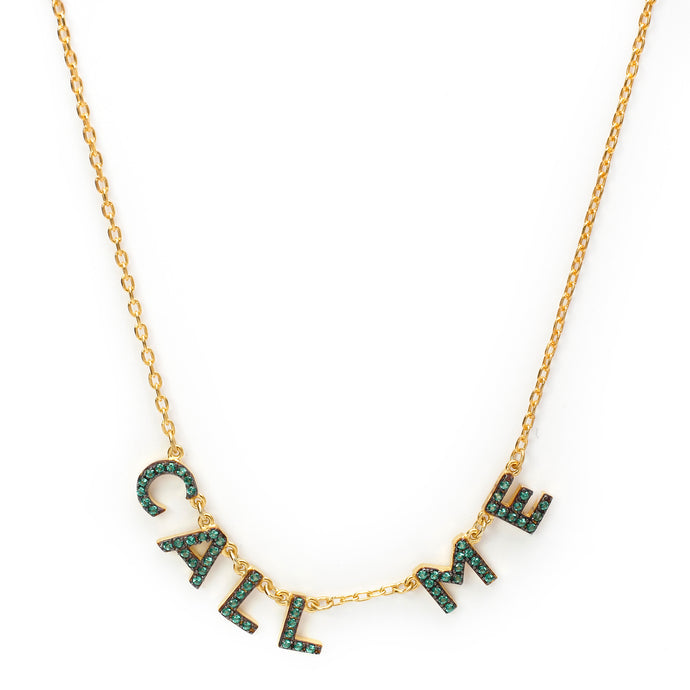 Call Me Chain in Gold-Green