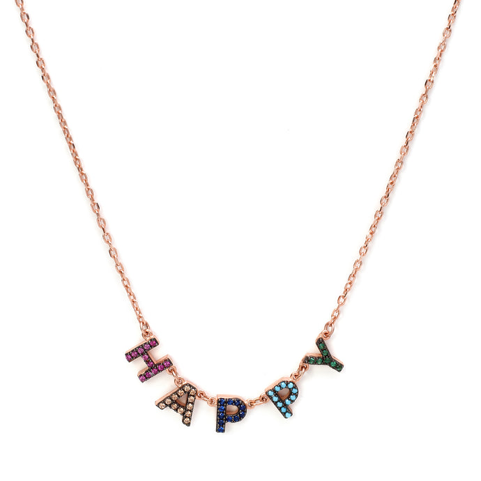 Happy Chain in Multicolored- Rose Gold