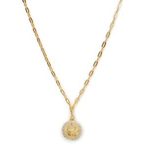 Symbol of Love Medallion in Gold