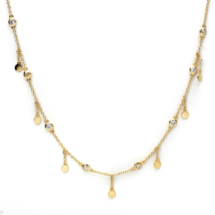 Dainty Drops of Shine Chain in Gold