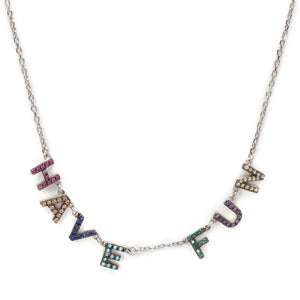 Have Fun Chain in Multicolored-Silver