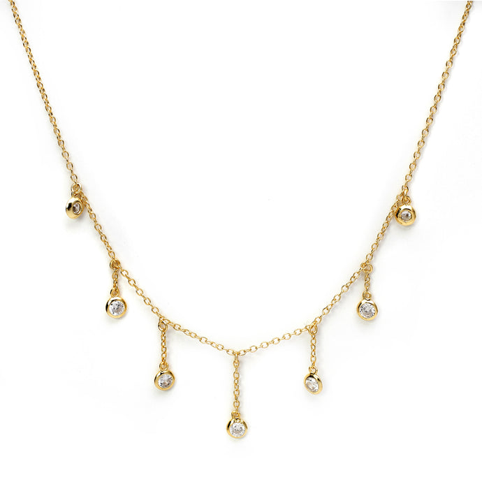 Dainty Drops of Shine Choker in Gold