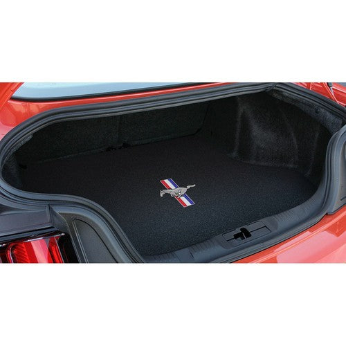 2015-2019 Ford Mustang Tri-Bar Pony Logo Ebony Trunk Mat by Lloyd Mats