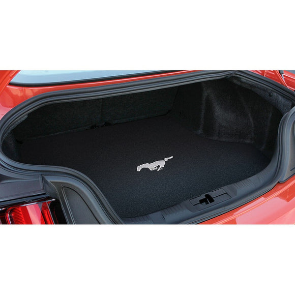 2015-2019 Ford Mustang Running Pony Logo Ebony Trunk Mat by Lloyd Mats