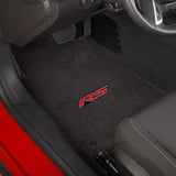 Camaro 2010-2015 2 Piece Floor Mats - Ultimat Lloyds Mats with RS Logo Script: Jet Black