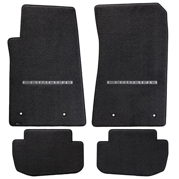 Camaro 2010-2015 4 Piece Floor Mats - Ultimat Lloyds Mats with Camaro Logo Script: Jet Black