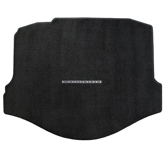 Camaro 2010-2015 Cargo/Trunk Mat - Ultimat Lloyds Mat with Camaro Logo Script: Jet Black
