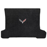 C7 Corvette Stingray (Coupe) Cargo and Foor Mat Set  - Lloyds Mats with C7 Crossed Flags: Jet Black