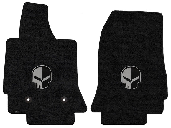C7 Corvette Floor Mats - Lloyds Mats with Jake Logo: Jet Black