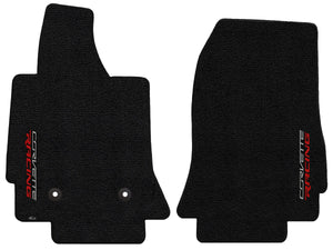C7 Corvette Floor Mats - Lloyds Mats with Corvette Racing Script: Jet Black