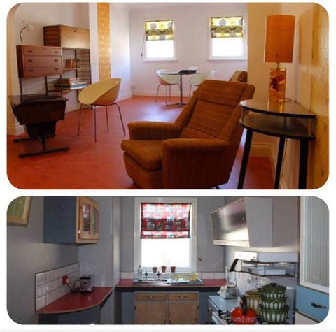 Margate Retro Rooms lounge and kitchen