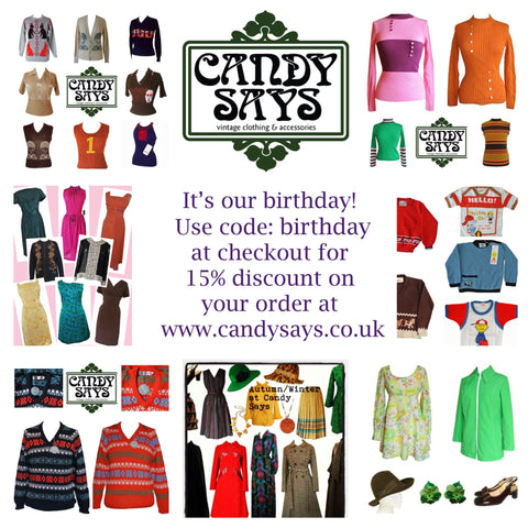 Candy Says Vintage Clothing 10th birthday