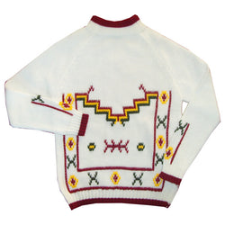 White nordic chunky knit vintage unworn boys 1970s jumper - Vintage Clothing, Vintage Stock, Vintage Dresses, Vintage Shoes UK