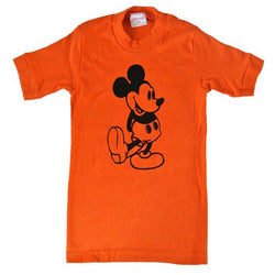 Mickey Mouse vintage 1980s orange cotton t-shirt - Vintage Clothing, Vintage Stock, Vintage Dresses, Vintage Shoes UK