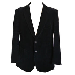 St Michael mens smart vintage navy corduroy blazer - Vintage Clothing, Vintage Stock, Vintage Dresses, Vintage Shoes UK