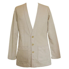 Pale beige 1970s mens casual cardigan