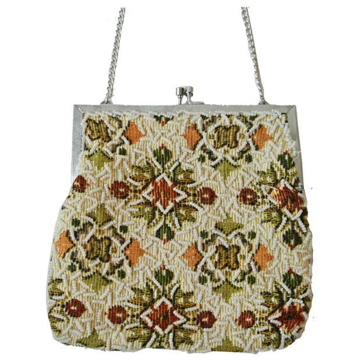 Needlepoint beaded 1960s evening bag - Vintage Clothing, Vintage Stock, Vintage Dresses, Vintage Shoes UK