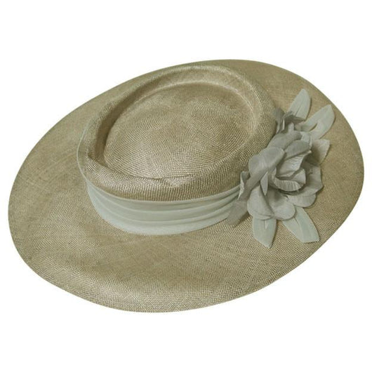 Pale grey sisal 1980s wide brim hat - Vintage Clothing, Vintage Stock, Vintage Dresses, Vintage Shoes UK