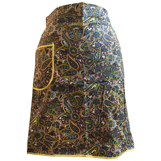 Paisley floral 1960s vintage unworn cotton apron - Vintage Clothing, Vintage Stock, Vintage Dresses, Vintage Shoes UK