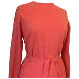 Coral pink acrylic knit vintage 1960s unworn day dress